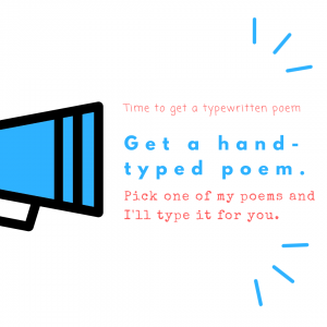 Get typewritten poem